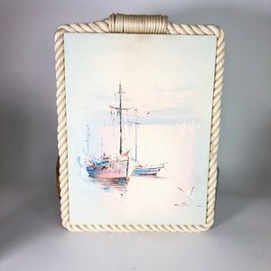 """Vintage Sailboat Painting on canvas 18"""" x 13"""""""